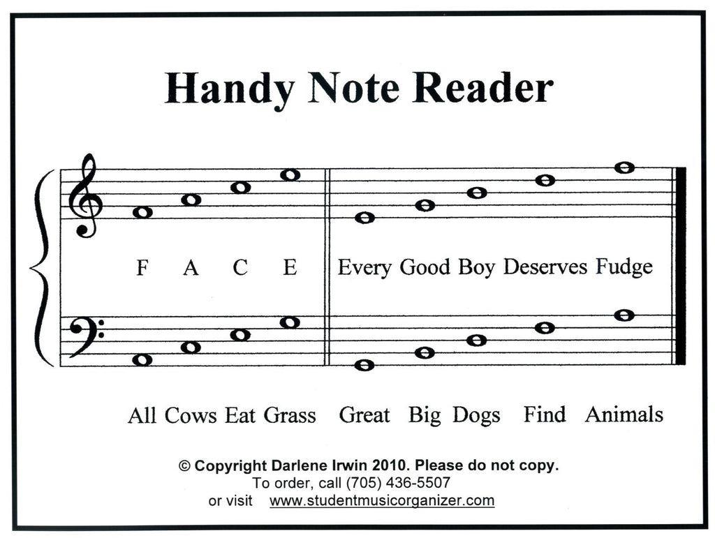 Note Reading Cards