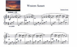 "Piano Composition - ""Western Sunset"" by Darlene Irwin (Digital Format)"
