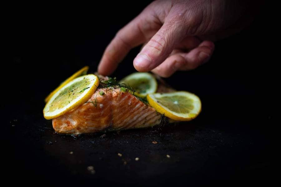 Catch Sitka Alaskan hook & line wild-caught Alaskan salmon picatta.