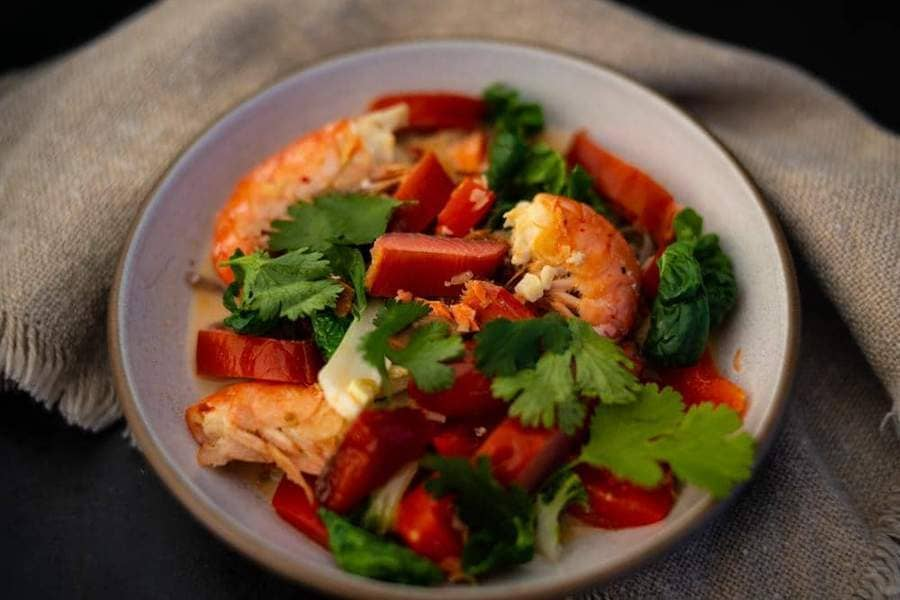Catch Sitka Alaskan hook & line wild-caught spot prawn recipe.