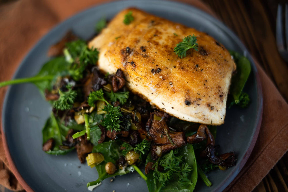 Catch Sitka Alaskan hook & line wild-caught halibut recipe.