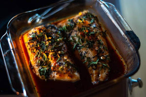Catch Sitka Alaskan hook & line wild-caught baked black cod recipe.