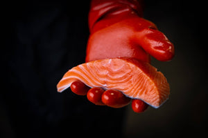 Catch Sitka Alaskan hook & line wild-caught king salmon fillet.