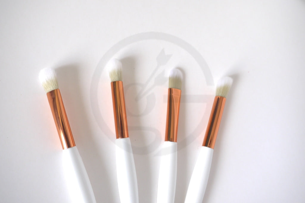 Makeup Brush Set - Angelic White Brushes