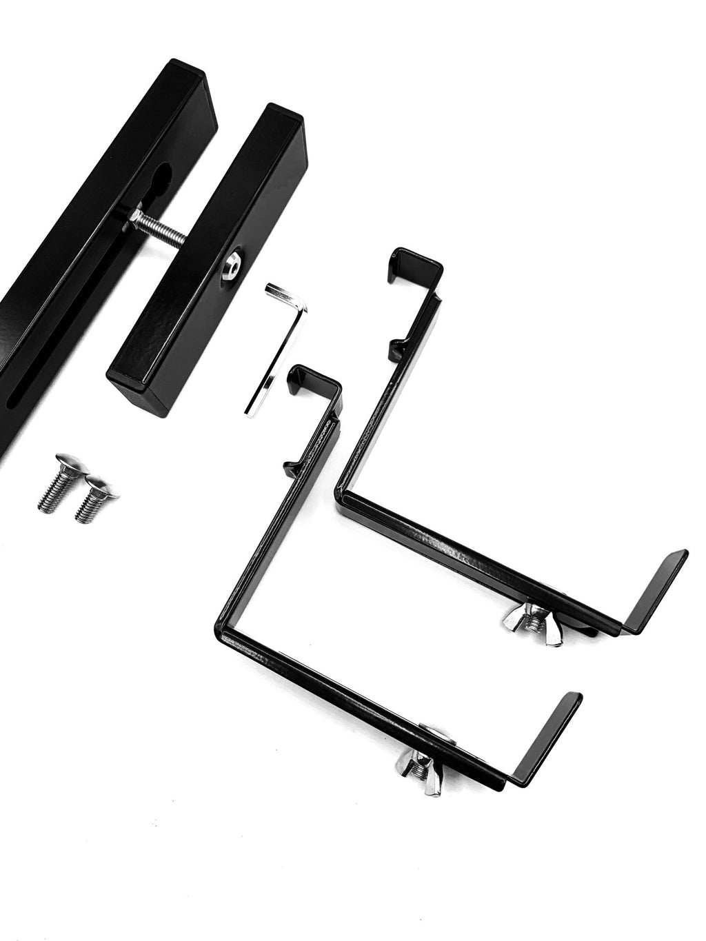 Adjustable Universal Brackets &  Mounting Rail Kit - Hold It Mate