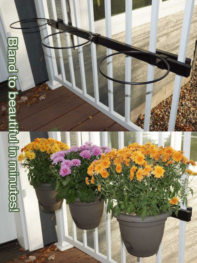 "Container Garden Kit with 36"" Mounting Rail - Hold It Mate"
