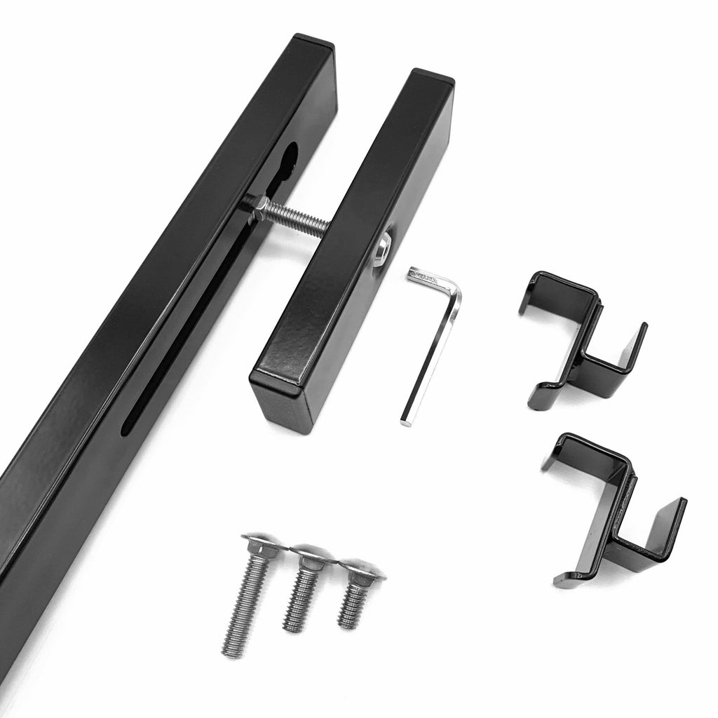 Trough Hooks & Mounting Rail Kit for Flat Iron Cocoa Lined Wire Troughs - Hold It Mate