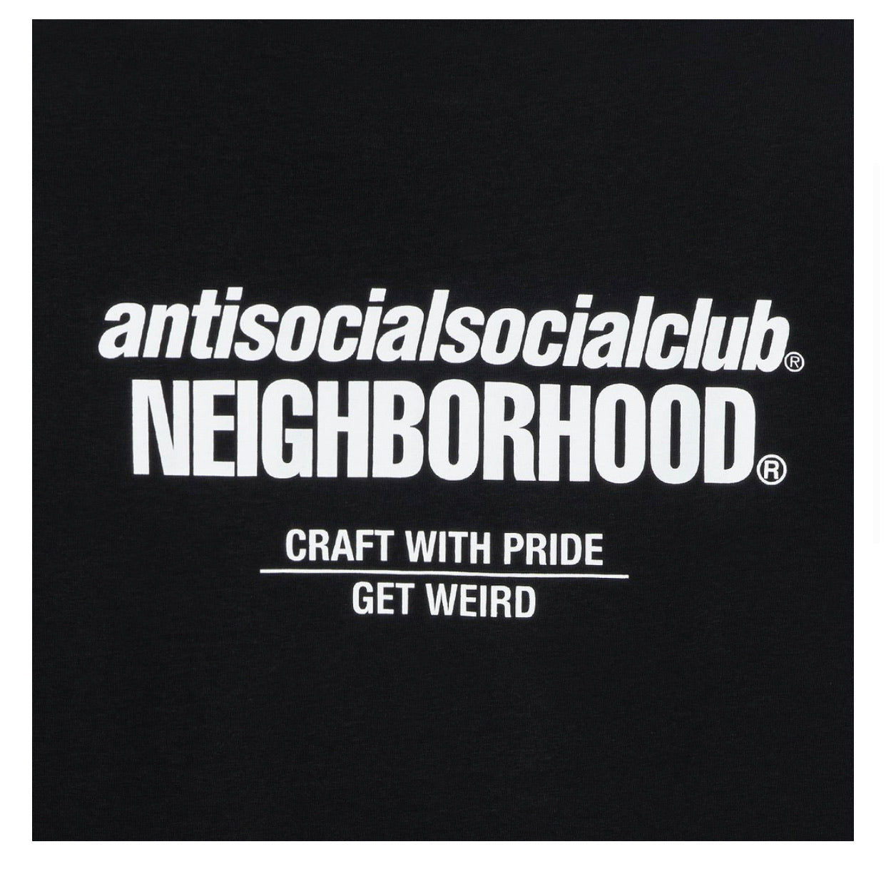 Neighborhood x ASSC Cambered Black Tee