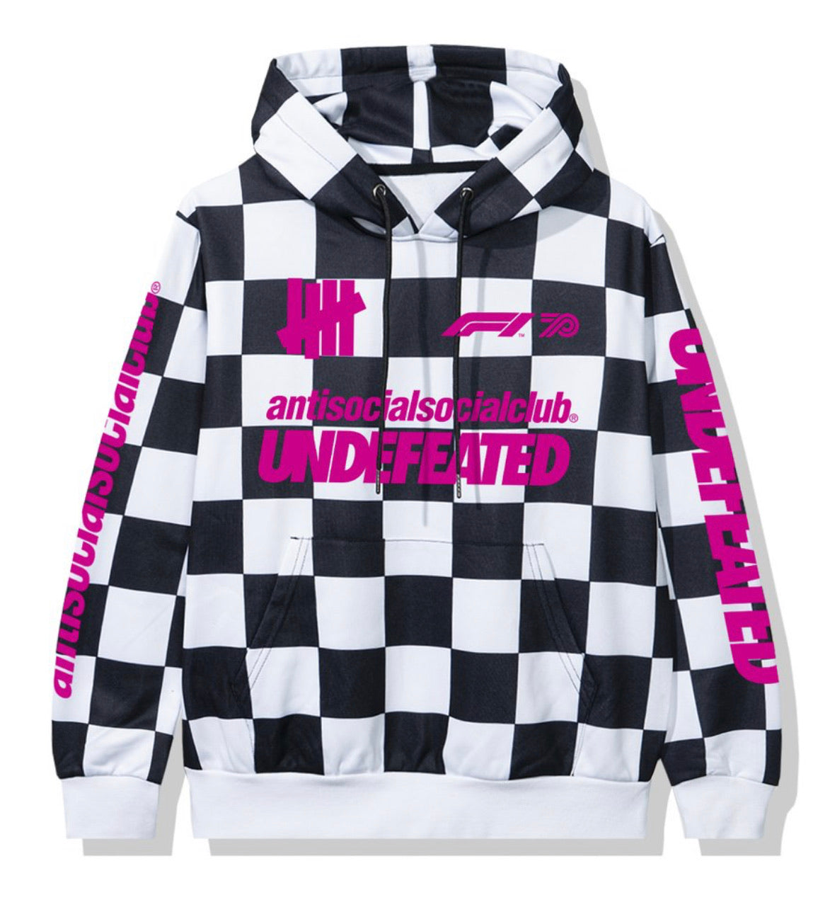 ASSC X Undefeated X F1 Checkered Hoodie