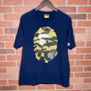 Bape Camo Head Navy Tee