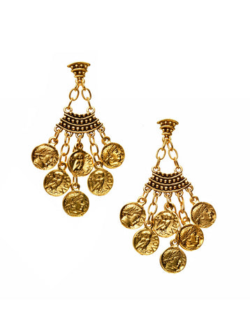 Goddess Athena Chandelier Earring