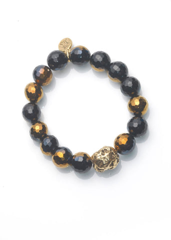 Black Agate Slip on Bracelet