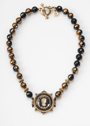 Gaspara Black Agate Necklace