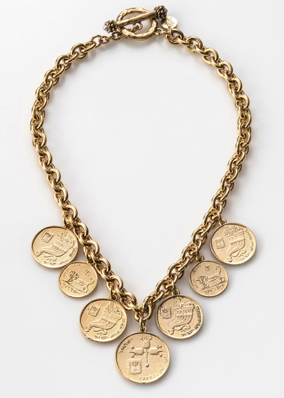 Israeli Coin Charm Necklace