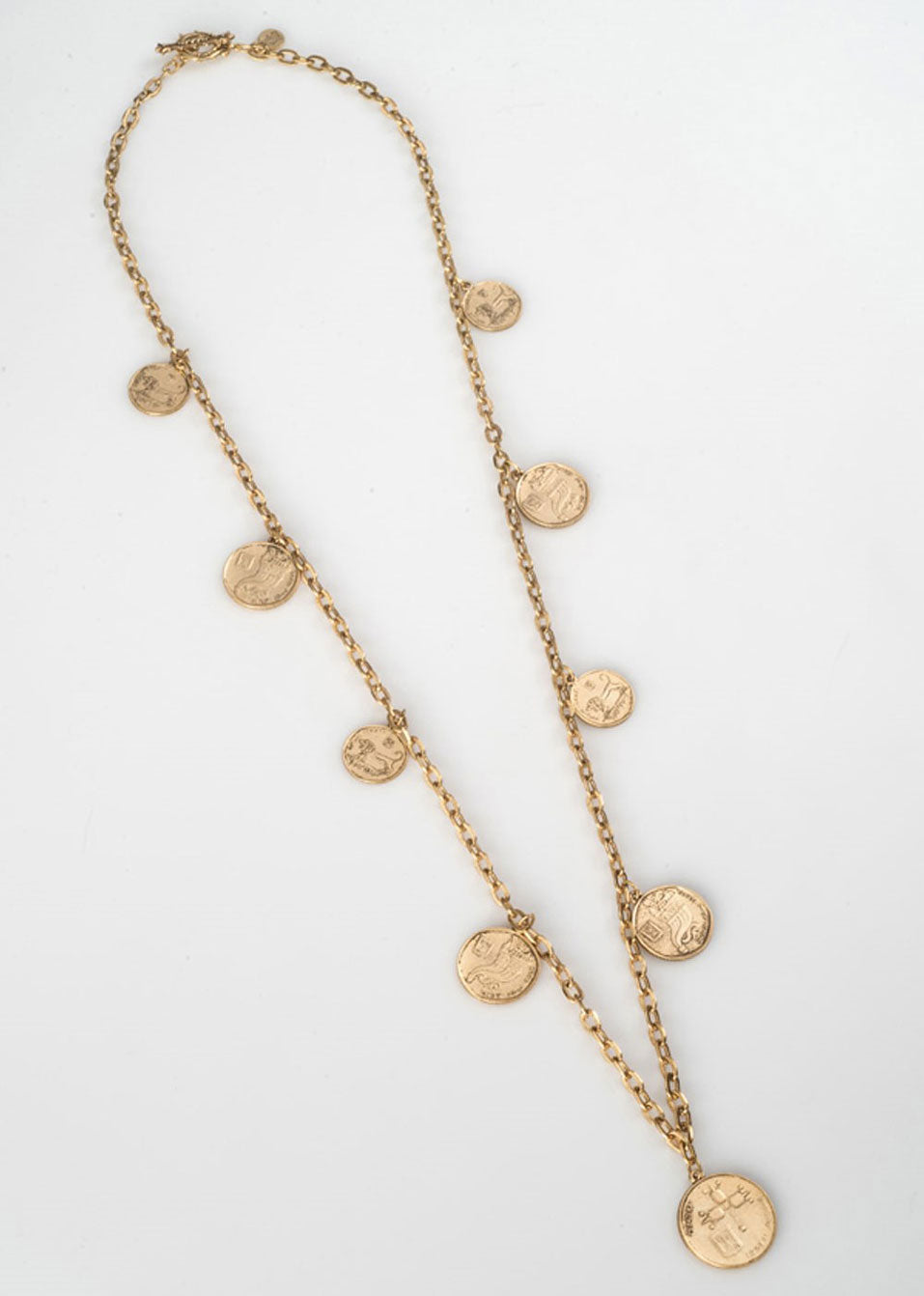 Israeli Long Charm Necklace