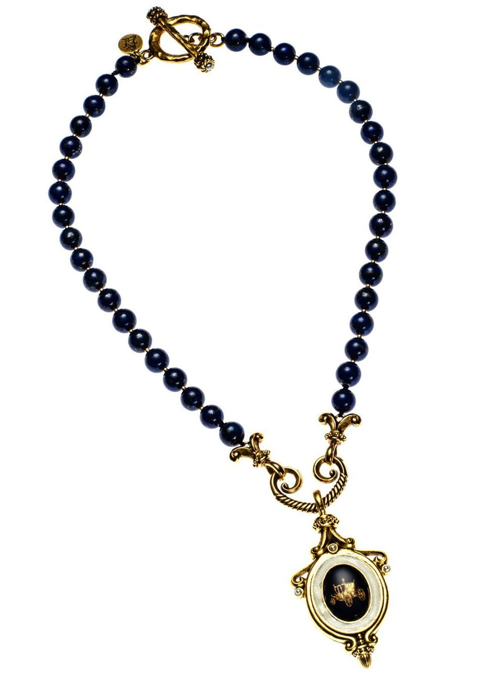 Lapis Carriage Necklace