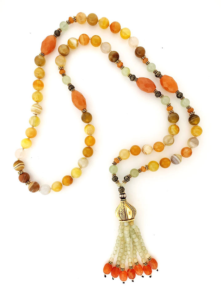 Sunshine Vibe Tassel Necklace