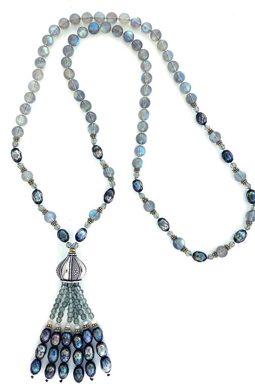 Northern Lights Tassel Necklace