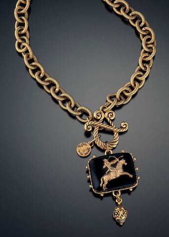 Vintage Archer Intaglio Necklace