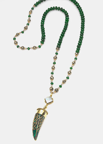 Silk Road Inlaid Horn Necklace