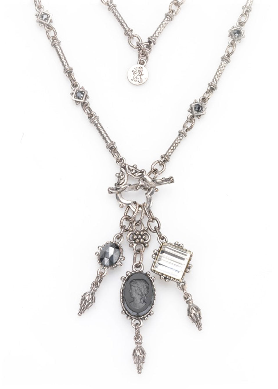 Hematite-Crystal Charm Necklace