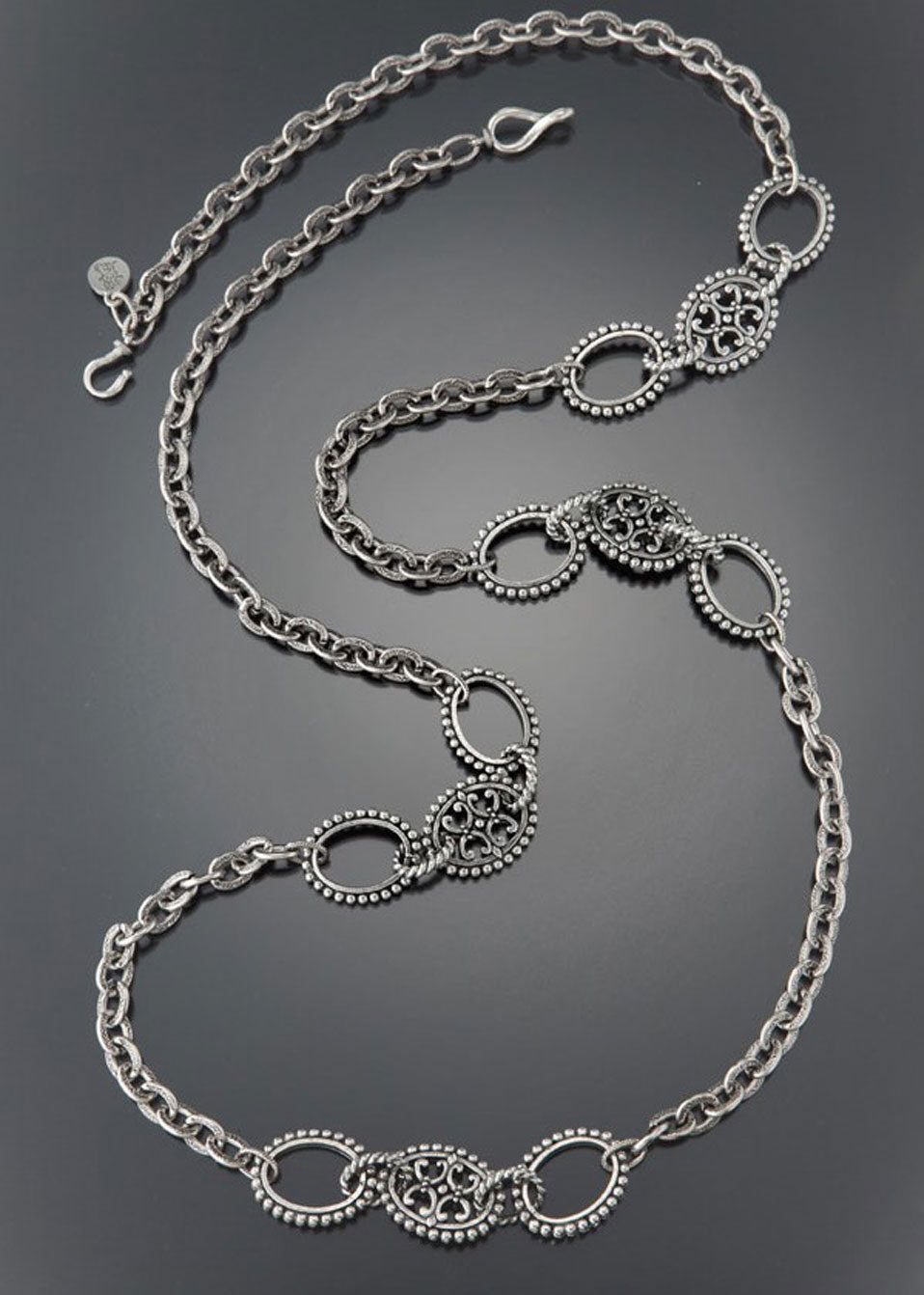 Silver Medallion & Chain Necklace