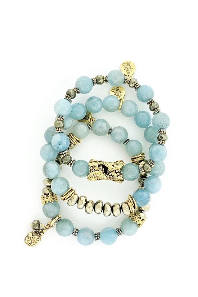 Sea Spray Aquamarine Bracelet