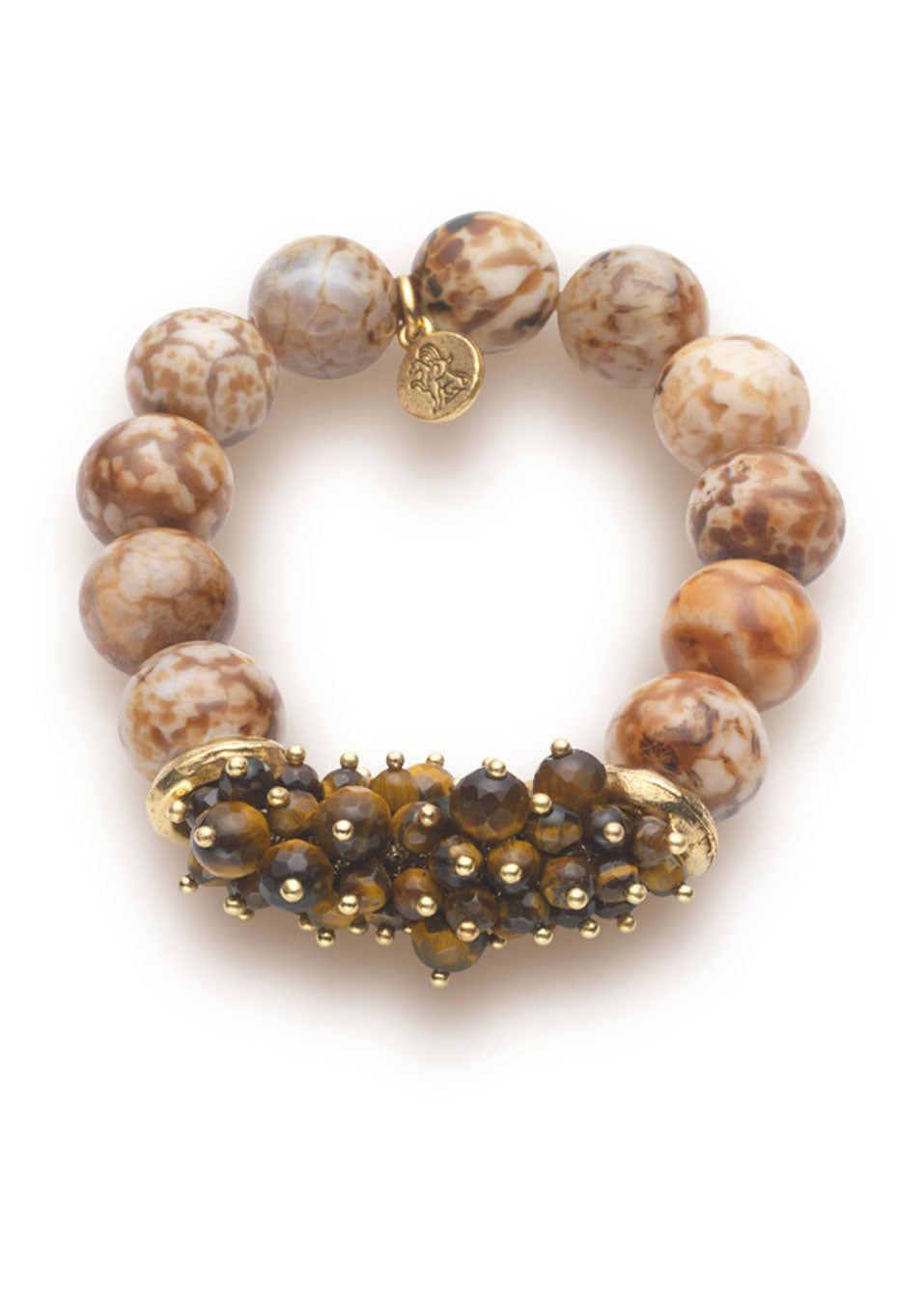 Fire Agate & Tigers Eye Bracelet