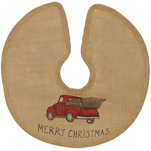 Red truck tree skirt- 3 sizes