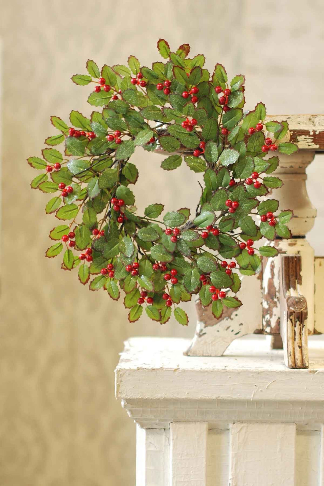 Holly Candle Ring with Berries | 16