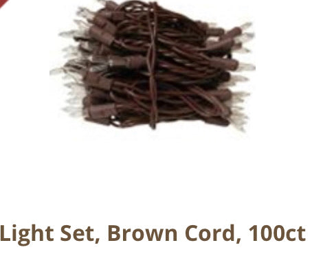 100 ct country lights with brown wires
