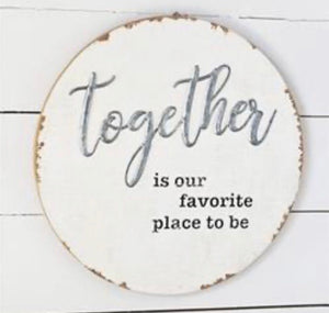 Round Together Sign