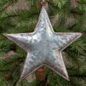 "7"" GALVANIZED STAR ORNAMENT"