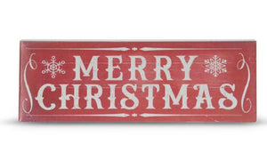 23.75 Inch Red Metal MERRY CHRISTMAS Sign