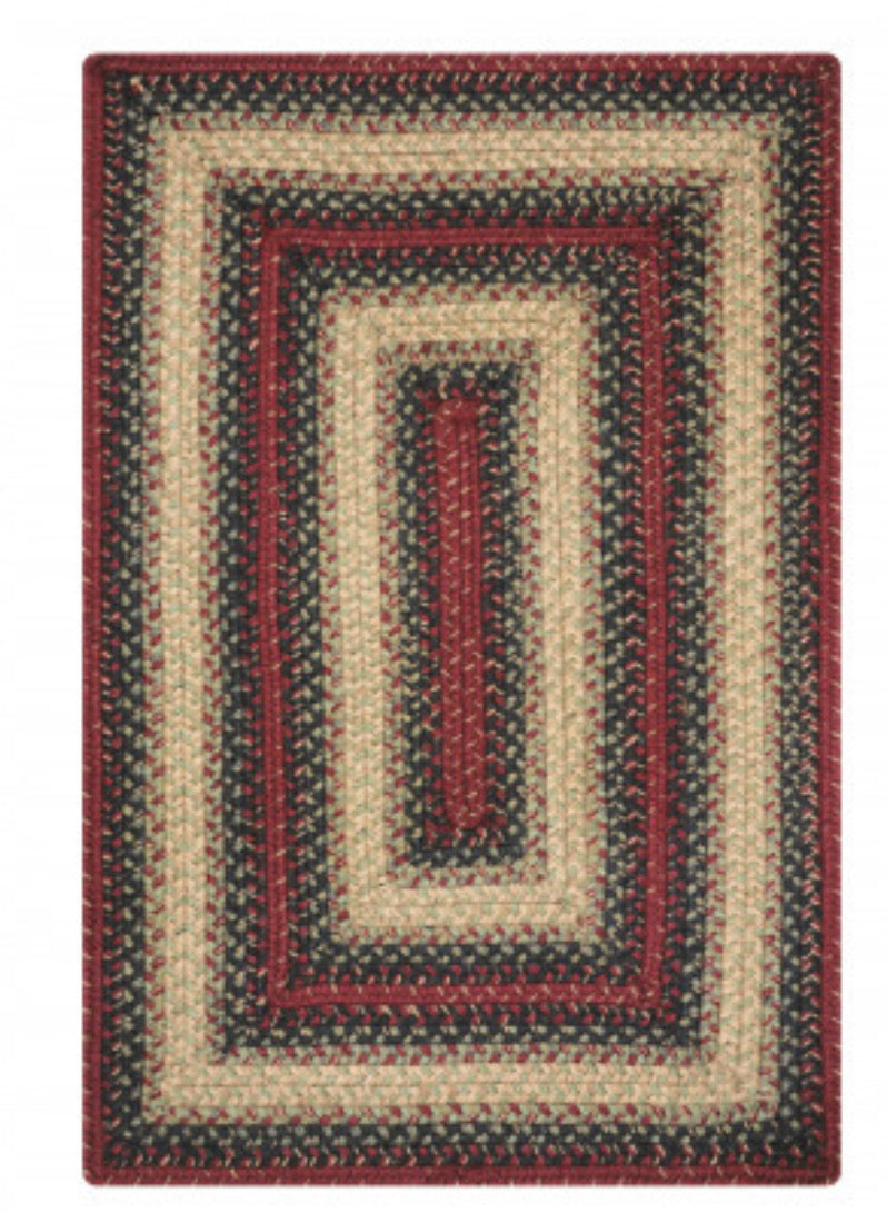 HIGHLAND MULTI COLOR JUTE BRAIDED RECTANGLE RUGS- select size