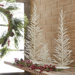 Metal trees- 3 sizes- 2 colors