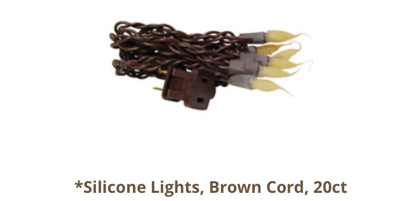 20ct silicone lights with brown cord