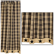 Load image into Gallery viewer, Farmhouse star shower curtain- 3 styles