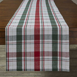 WINTER BOTANIC PLAID TABLE RUNNER