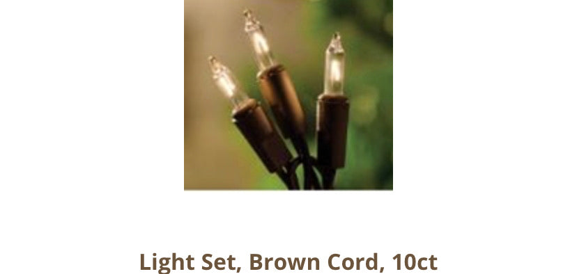 10ct country lights with brown wires