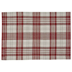 Peppermint plaid placemat
