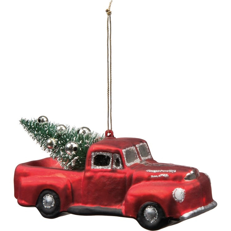 Glass Ornament - Large Truck