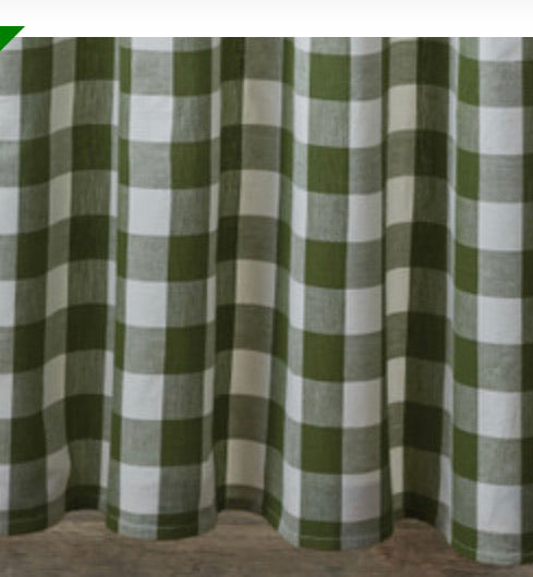 WICKLOW CHECK SHOWER CURTAIN - SAGE