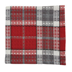 SKETCHBOOK SNOWMAN PLAID DISHCLOTH
