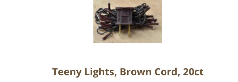 20ct teeny lights with brown cord