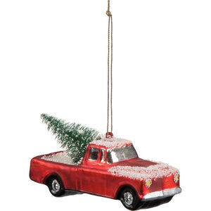 Glass Ornament - Small Truck