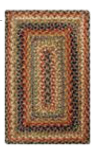 KINGSTON MULTI COLOR JUTE BRAIDED RECTANGLE RUGS- select size