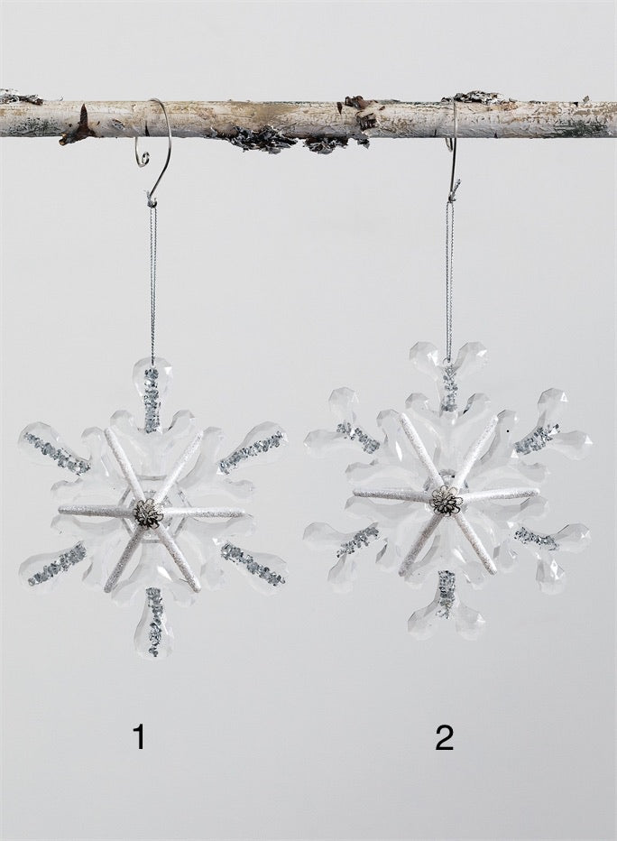SNOWFLAKE ORNAMENTS- 2 Styles