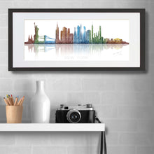 Load image into Gallery viewer, New York Skyline Watercolour