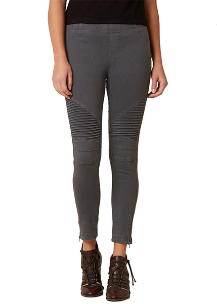 Moto Jegging in Dark Grey